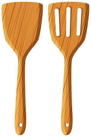 Two designs of spatulas illustration