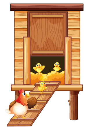 395 Chicken Coop Stock Vector Illustration And Royalty Free ...