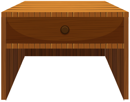 Wooden drawer in classic design illustration