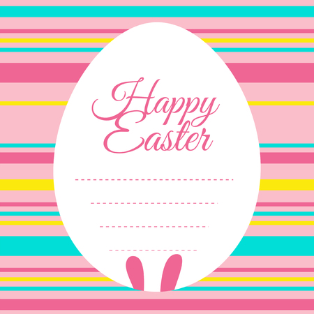 picture card: Easter card template with colorful background illustration Illustration