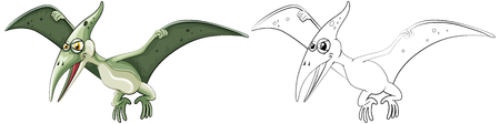 pterosaur: Animal outline for pterosaur illustration