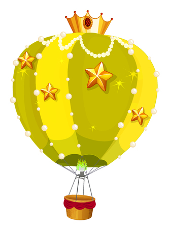 Balloons with golden stars illustration.