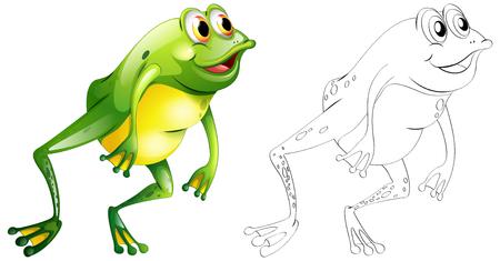Schema di animali per la rana che salta illustrazione.