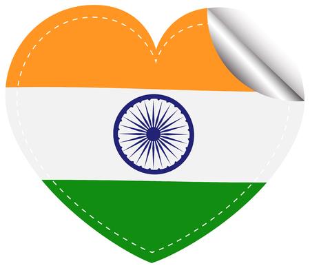 sticker design: Sticker design for India flag illustration
