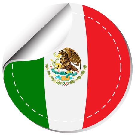 sticker design: Sticker design for flag of Mexico illustration Illustration
