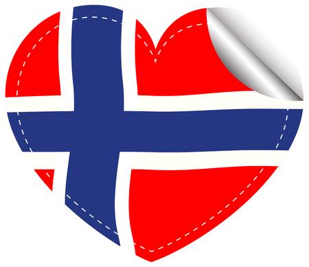 sticker design: Sticker design for flag of Norway illustration
