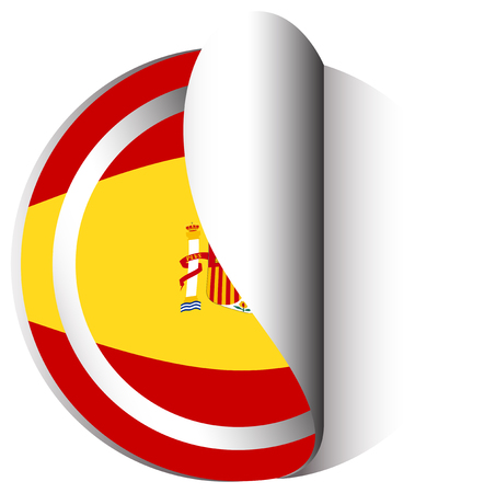 circl: Sticker design for flag of Spain illustration