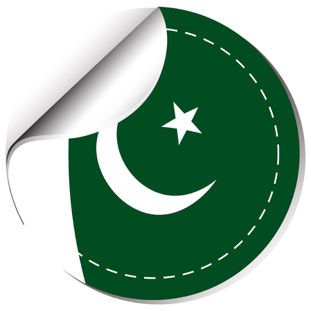 sticker design: Sticker design for Pakistan illustration