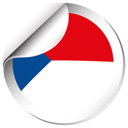 sticker design: Sticker design for Chile flag illustration