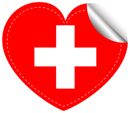 sticker design: Sticker design for flag of Switzerland illustration Illustration