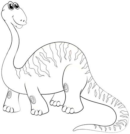 Animal outline for long neck dinosaur illustration
