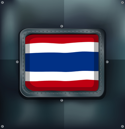 metalic: Flag of Thailand on metalic background illustration