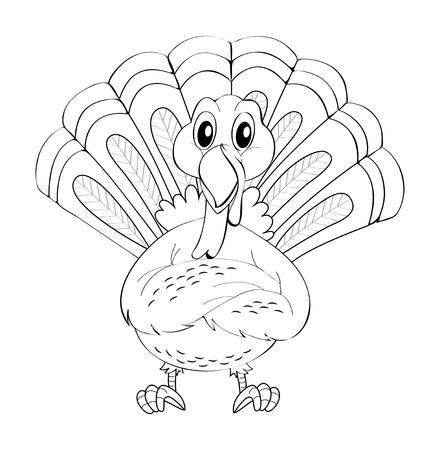 Animal doodle for wild turkey illustration Illustration