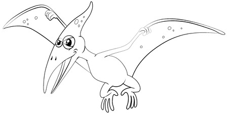 pterosaur: Outline animal for pterosaur illustration