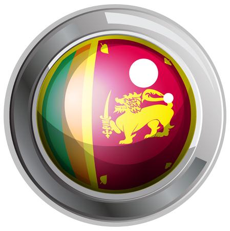 srilanka: Flag of Srilanka on round badge illustration Illustration