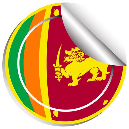 srilanka: Sticker design for flag of Srilanka illustration