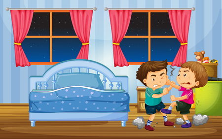 Girl Going To Bed In Bedroom Illustration Royalty Free Cliparts ...