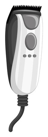Electronic razor on white background illustration Illustration