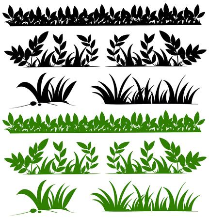 Doodles ontwerp voor grassen illustratie
