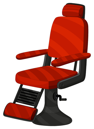 barber chair barber chair in red color