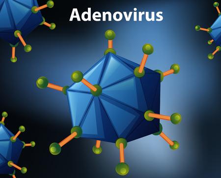Close up diagram for Adenovirus illustration Illustration