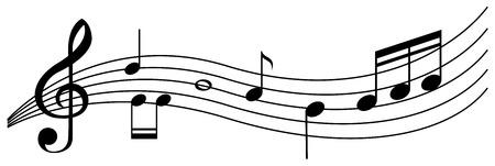 Naadloze achtergrond met zwarte muziek notities illustratie Stockfoto - 85245561