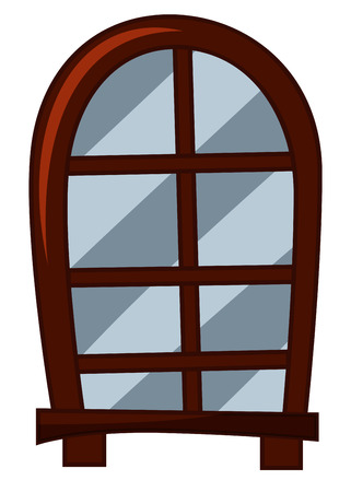old fashioned: Old fashioned style of window illustration