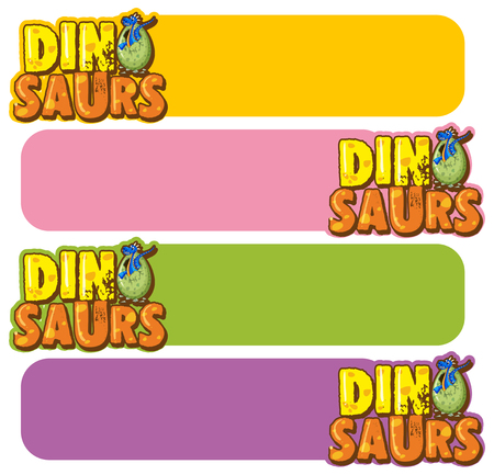 Banner template with dinosaur eggs illustration