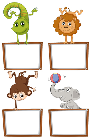 Border templates with cute animals illustration royalty free border templates with cute animals illustration stock vector 93147096 maxwellsz