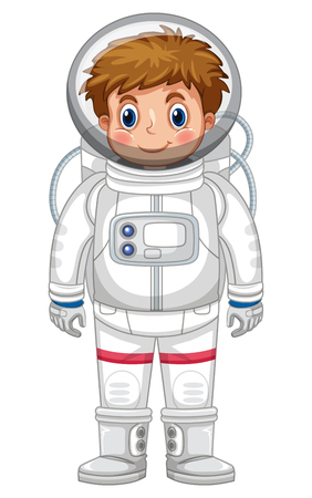 Boy in astronaut outfit illustration