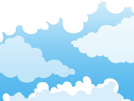 Background design with clouds in blue sky illustration