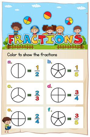 plantilla de la hoja de cálculo matemática para el color de la ilustración de torsión