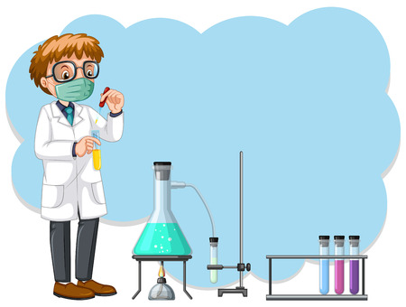 A Scientist Experiment in the Lab illustration