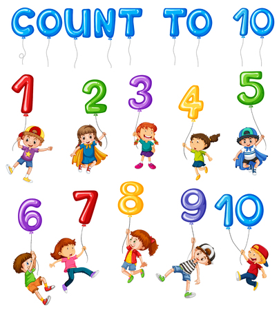 Mathematics Card Couting Number Chapter illustration Illustration