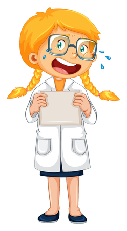 A Crying Doctor in Uniform illustration