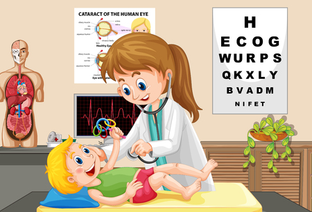 Doctor Check up a Baby illustration