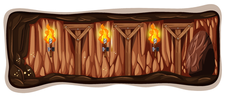 A Dark Mine Cave Template illustration