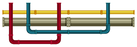 Underground Pipe on White Background illustration