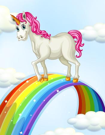 A Unicorn on the Rainbow illustration