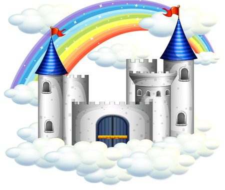A Rainbow Over Beautiful Castle illustration