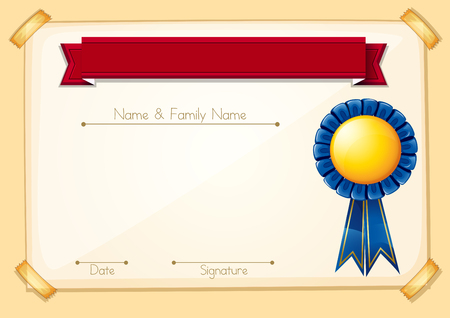 A Formal Certificate Blank Template illustration