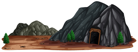 A Mine Stone in Nature illustration