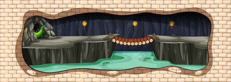 A Mystery Underground Dragon Cave illustration