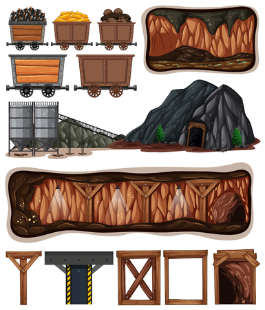 A Set of Mining Element illustration