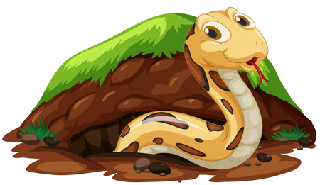 A Snake Living in the Hole illustration