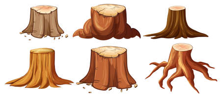 A Set of Different Stump illustration