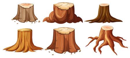 A Set of Different Stump illustration