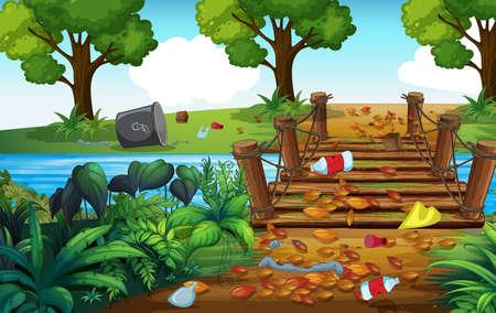 A Forest Full of Trash illustration Ilustração