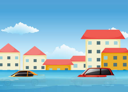 A Flood in City illustration