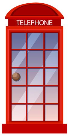 Classic British red phone booth illustration Stock Illustratie